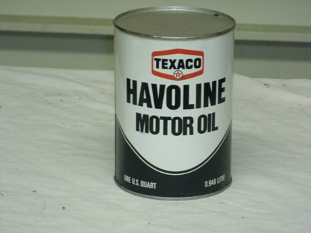 Texaco Havoline Quart Size Metal Oil Can