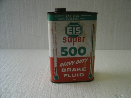 Vintage EIS Super 500 HD Brake Fluid Can