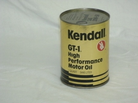 Vintage kendall gt 1 high performance motor oil johns petro for Kendall motor oil distributors