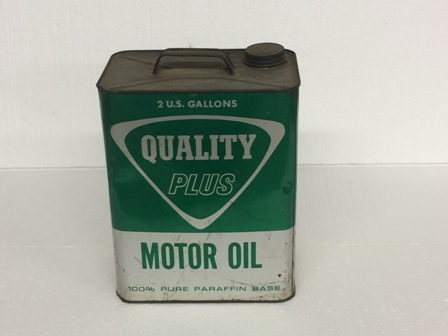 Vintage Quality Plus Motor Oil 2 Gallon Can #1