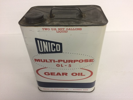 Vintage Unico Multi Purpose Gear Oil 2 Gallon Can